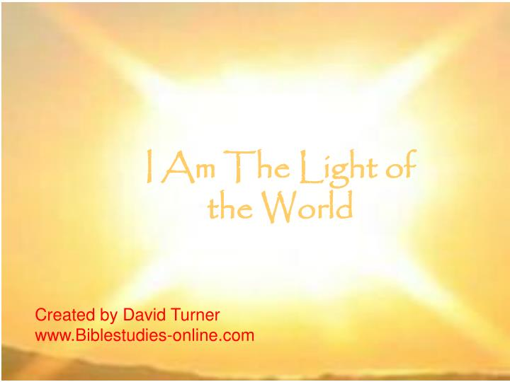 i am the light of the world n.