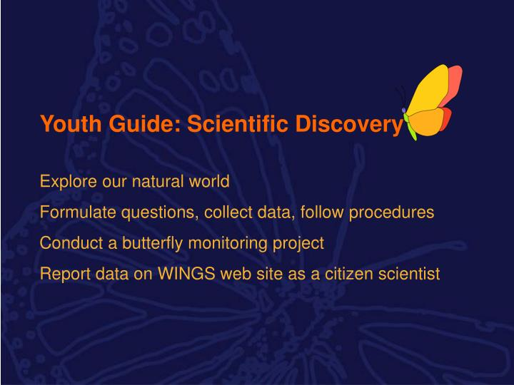 Youth Guide: Scientific Discovery