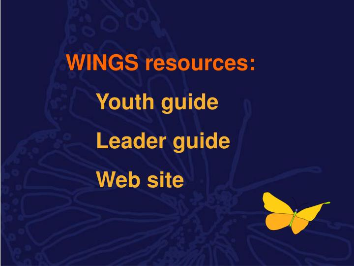 WINGS resources: