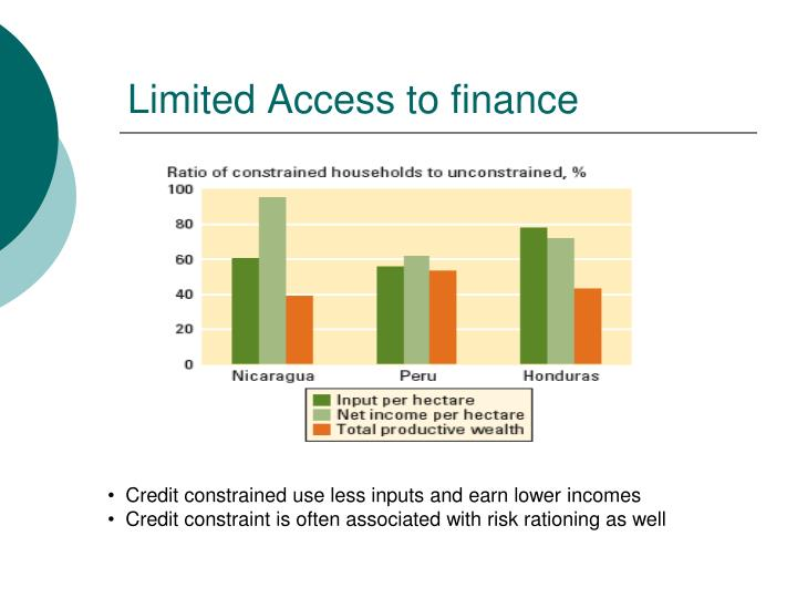 Limited Access to finance