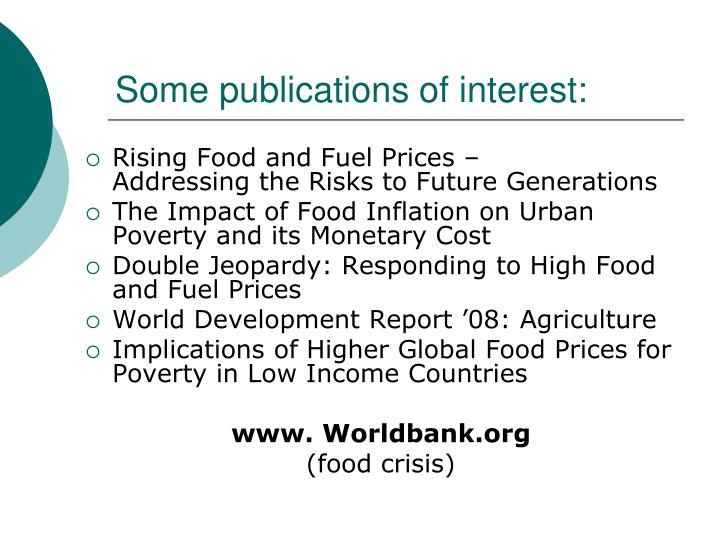 Some publications of interest: