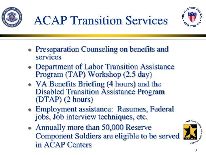 ACAP Transition Services