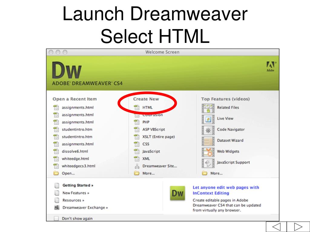 PPT - Macromedia Dreamweaver CS4 Tutorial PowerPoint