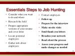 essentials steps to job hunting1