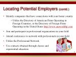 locating potential employers contd1