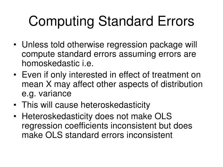 Computing Standard Errors