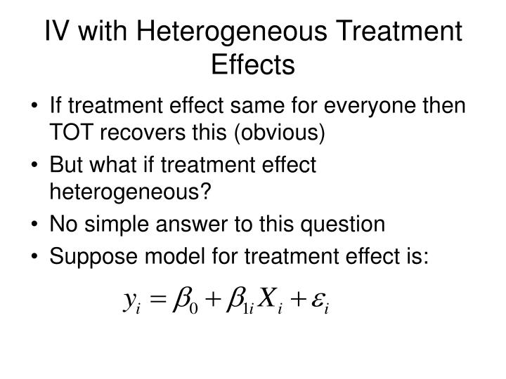 IV with Heterogeneous Treatment Effects