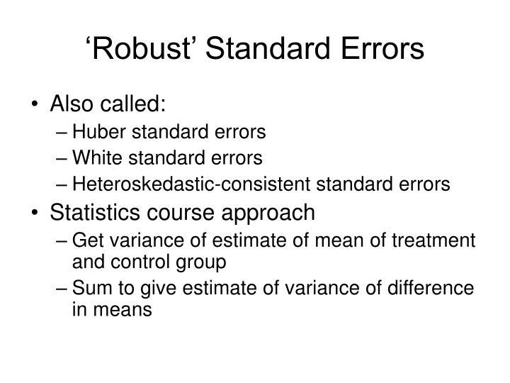 'Robust' Standard Errors