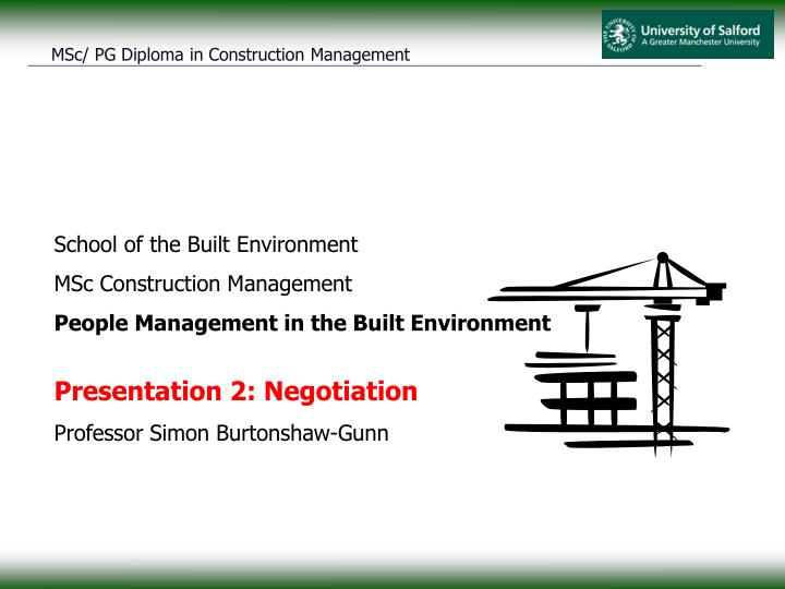 School of the Built Environment
