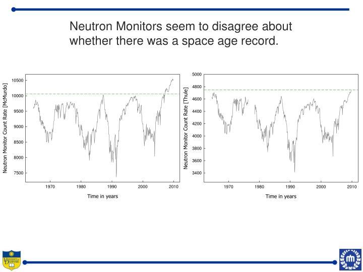 Neutron Monitors seem to disagree about