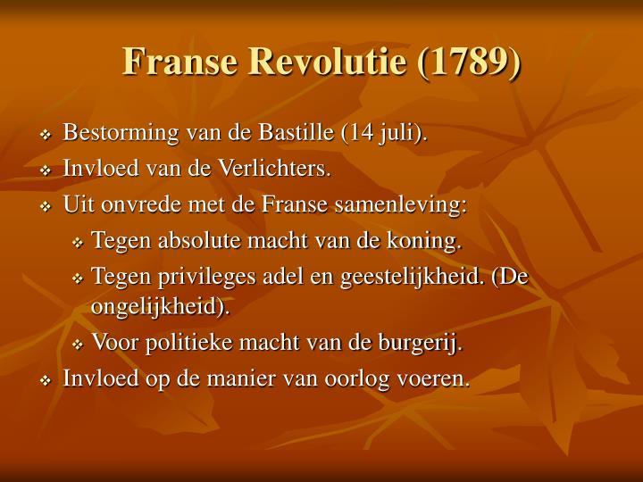 Franse revolutie 1789
