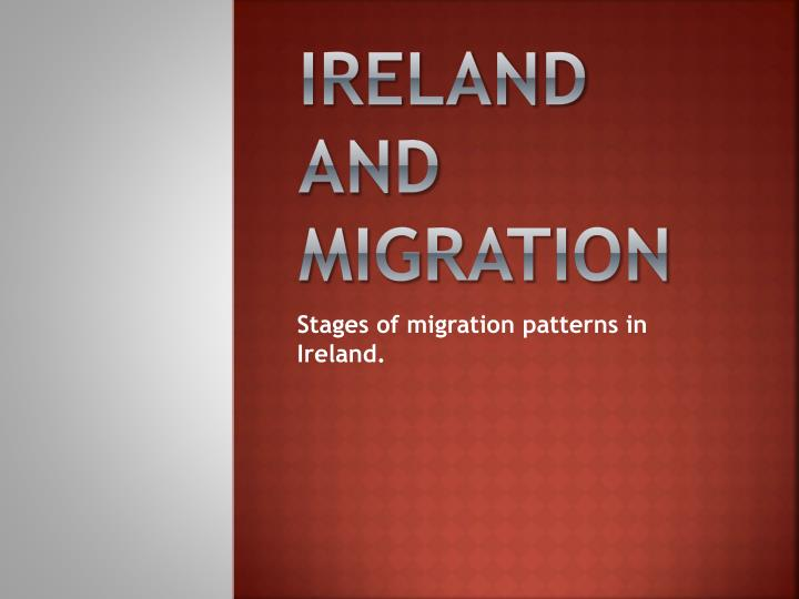 ireland and migration n.