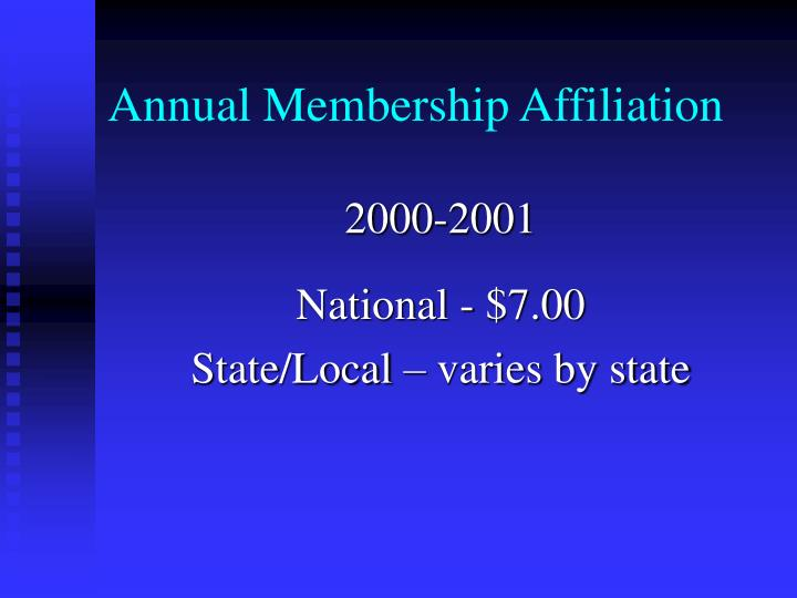 Annual Membership Affiliation