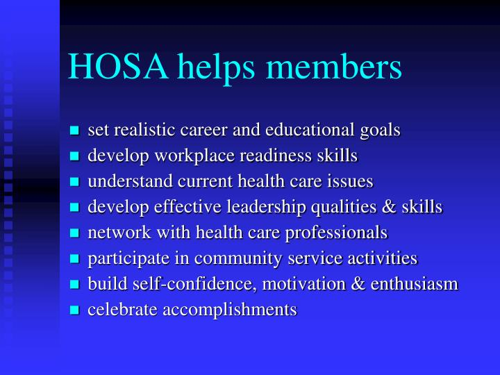 HOSA helps members