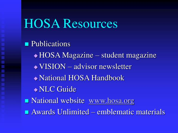 HOSA Resources