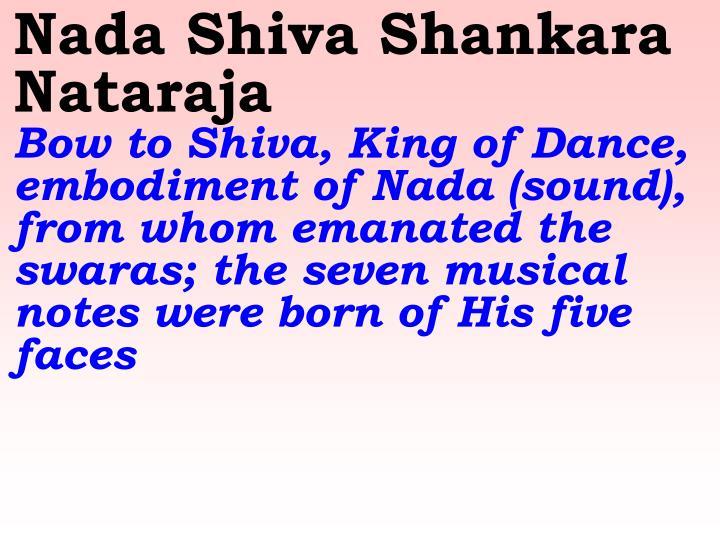 Nada Shiva Shankara Nataraja