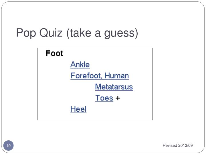 Pop Quiz (take a guess)