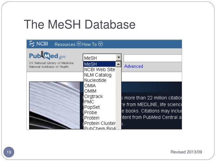 The MeSH Database