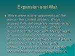 expansion and war9