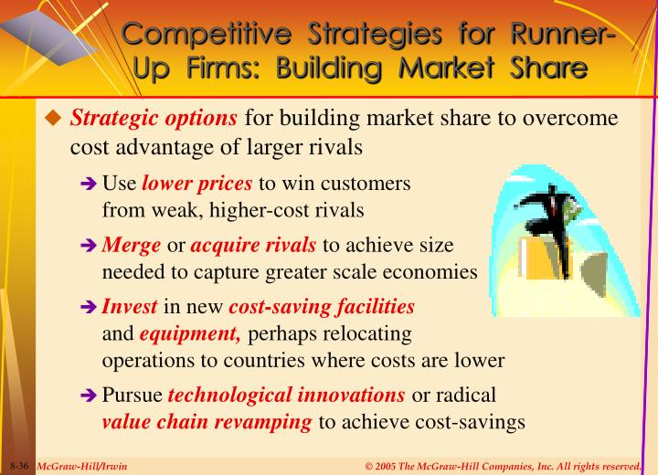 Competitive  Strategies  for  Runner-Up  Firms:  Building  Market  Share