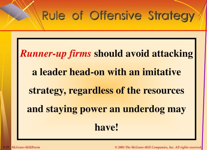 Rule  of  Offensive  Strategy