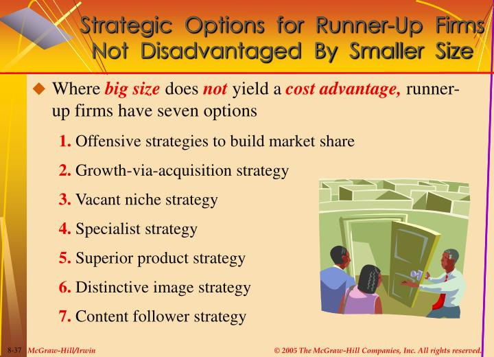 Strategic  Options  for  Runner-Up  Firms  Not  Disadvantaged  By  Smaller  Size