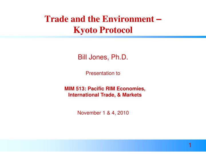 trade and the environment kyoto protocol