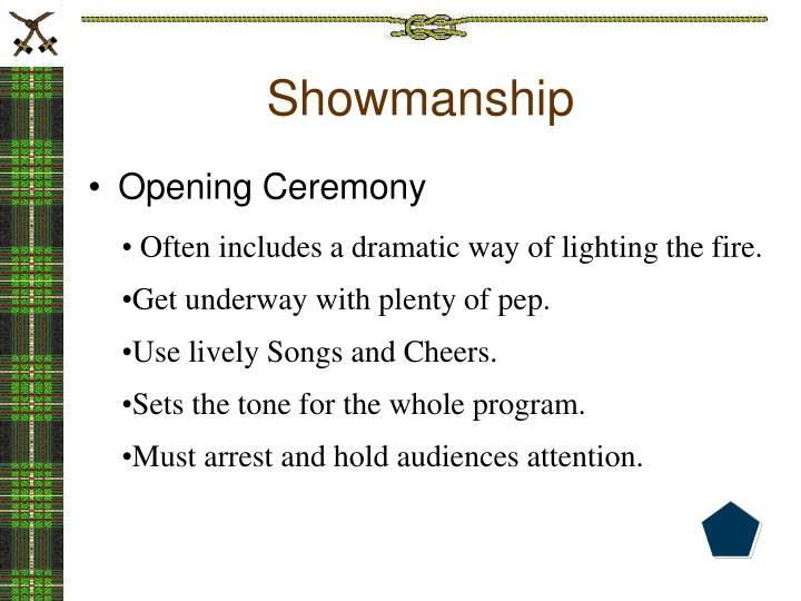 Showmanship