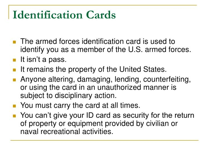 Identification cards