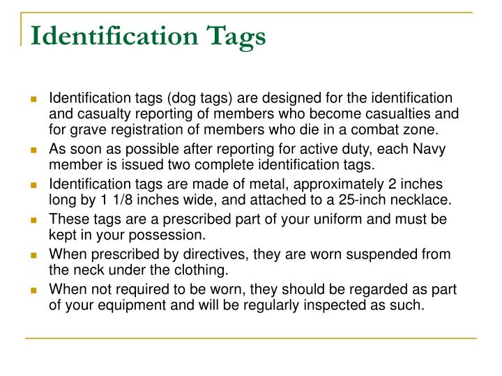 Identification Tags