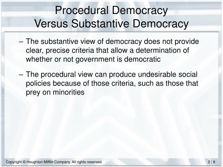 Procedural Democracy