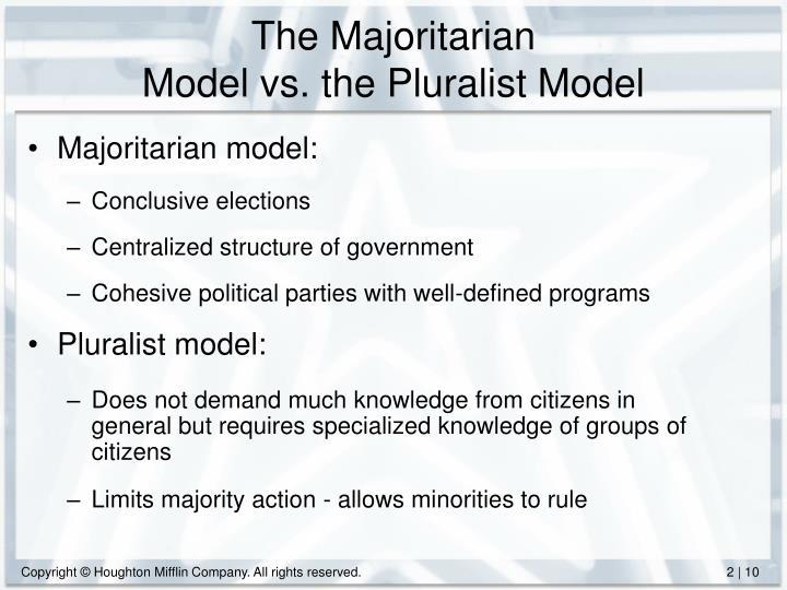 what is pluralist model