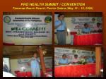 pho health summit convention tamaraw beach resort puerto galera may 13 15 2009