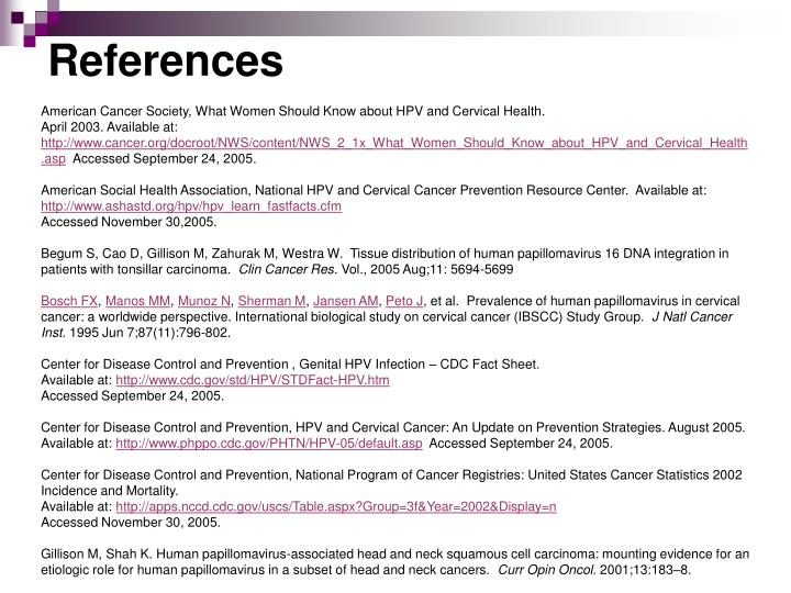 Ppt hpv and its link to oral cancer powerpoint presentation id american cancer society what women should know about hpv and cervical health toneelgroepblik Choice Image
