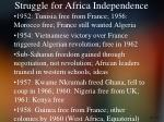 struggle for africa independence