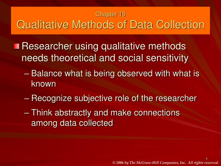 chapter 15 qualitative methods of data collection n.