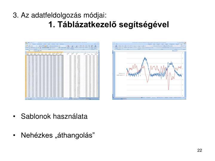 3. Az adatfeldolgozás módjai:
