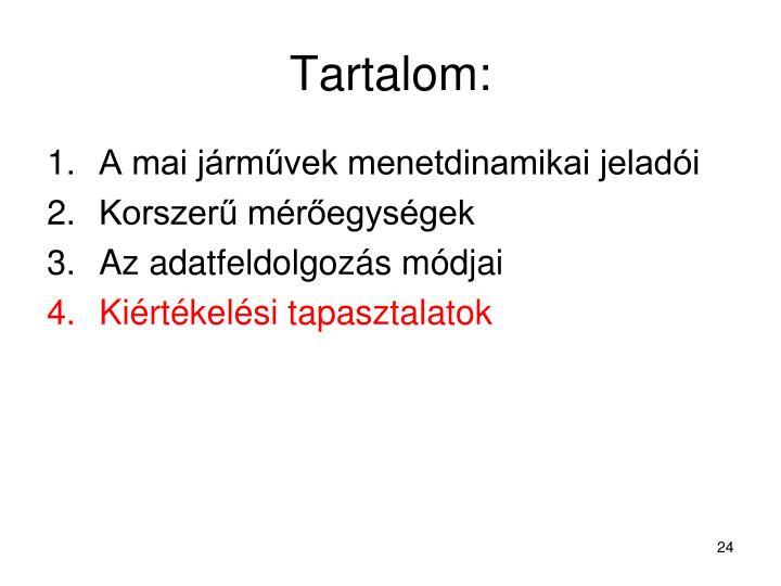 Tartalom: