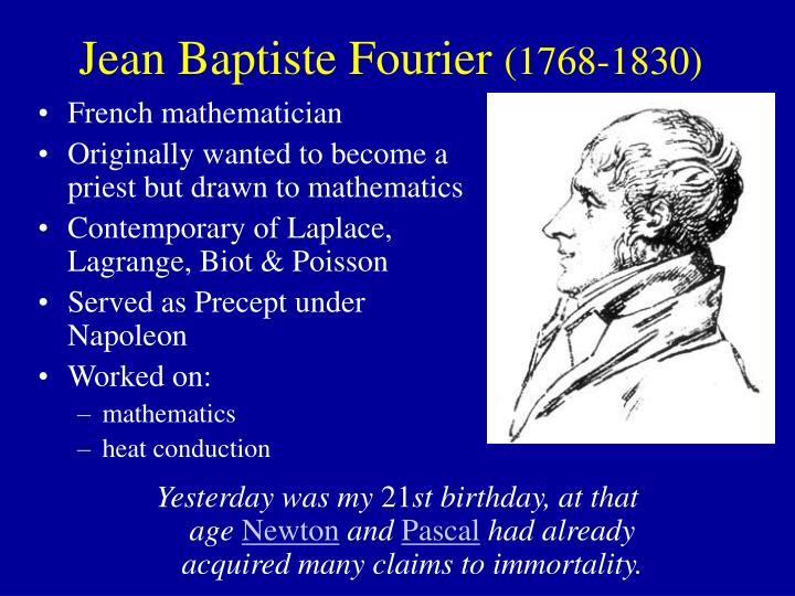 Jean baptiste fourier 1768 1830