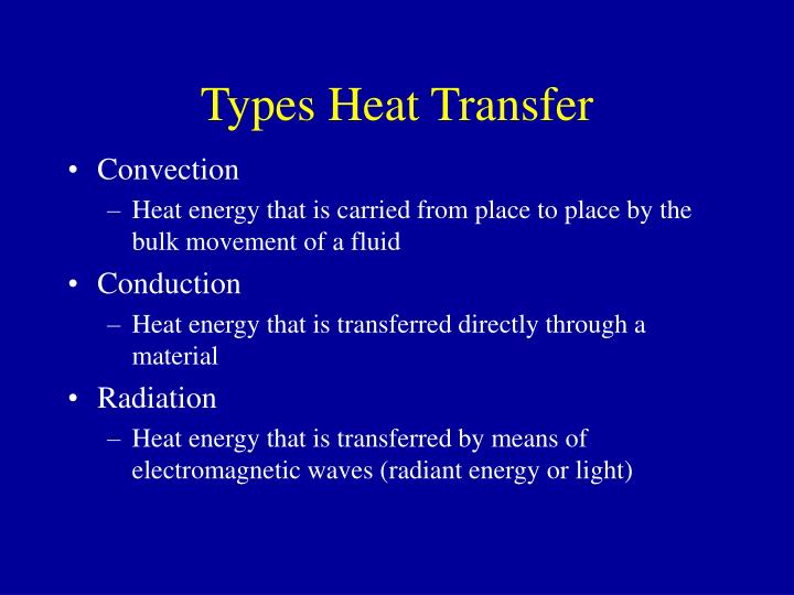 Types heat transfer