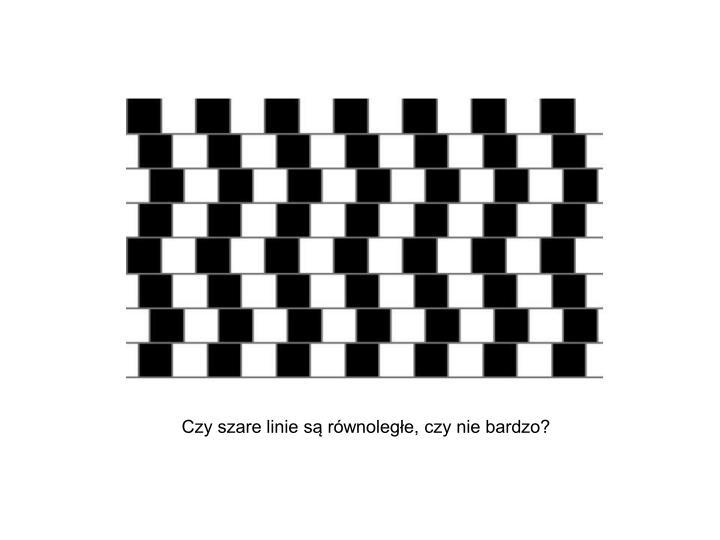 Czy szare linie są równoległe, czy nie bardzo?