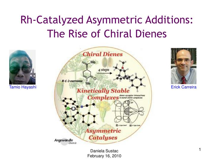 rh catalyzed asymmetric additions the rise of chiral dienes