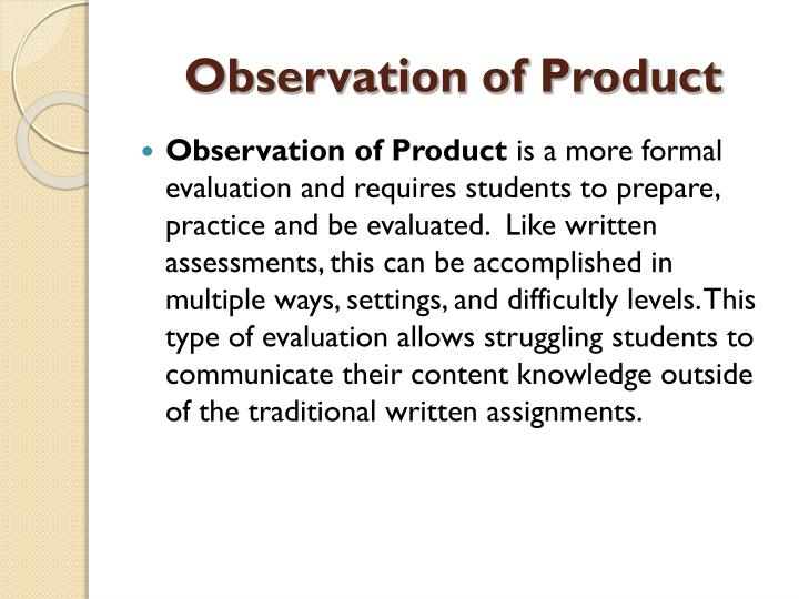Observation of Product