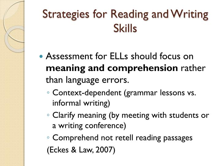 Strategies for Reading and Writing Skills