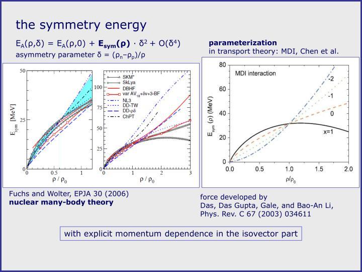 The symmetry energy