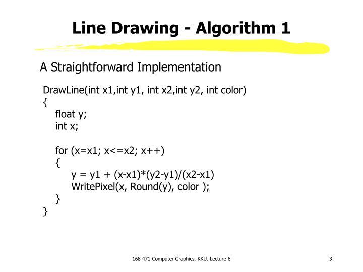 Line drawing algorithm 1