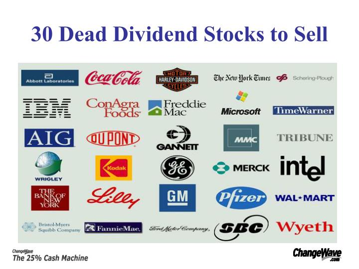 30 Dead Dividend Stocks to Sell