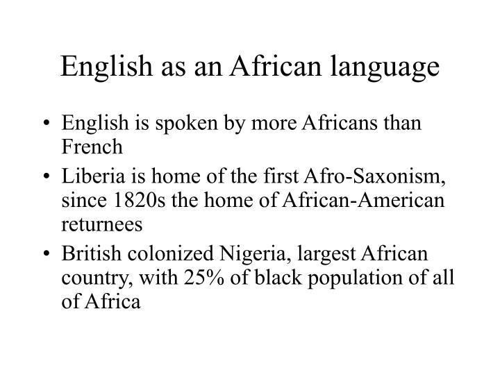 English as an African language