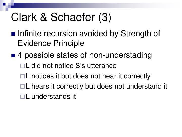 Clark & Schaefer (3)