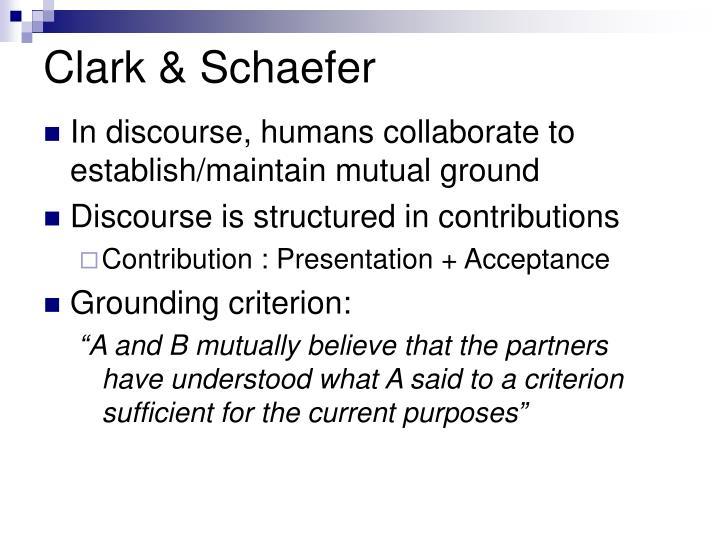 Clark schaefer